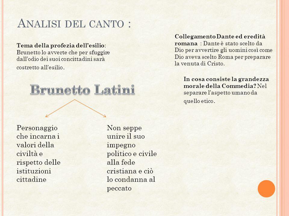 Brunetto Latini Analisi del canto :