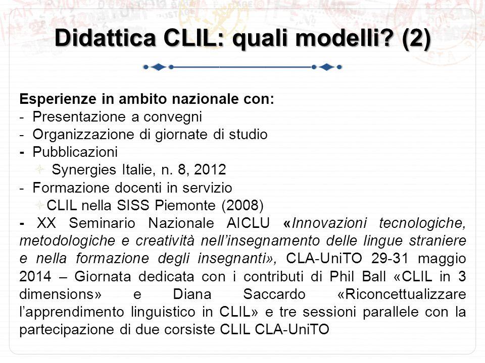 Didattica CLIL: quali modelli (2)