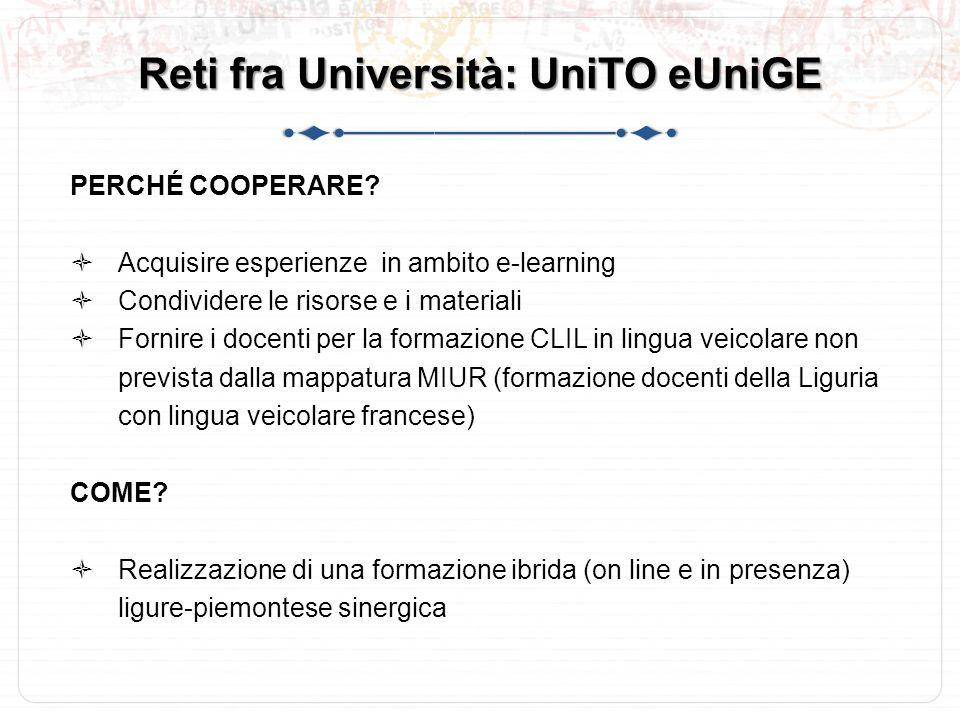 Reti fra Università: UniTO eUniGE