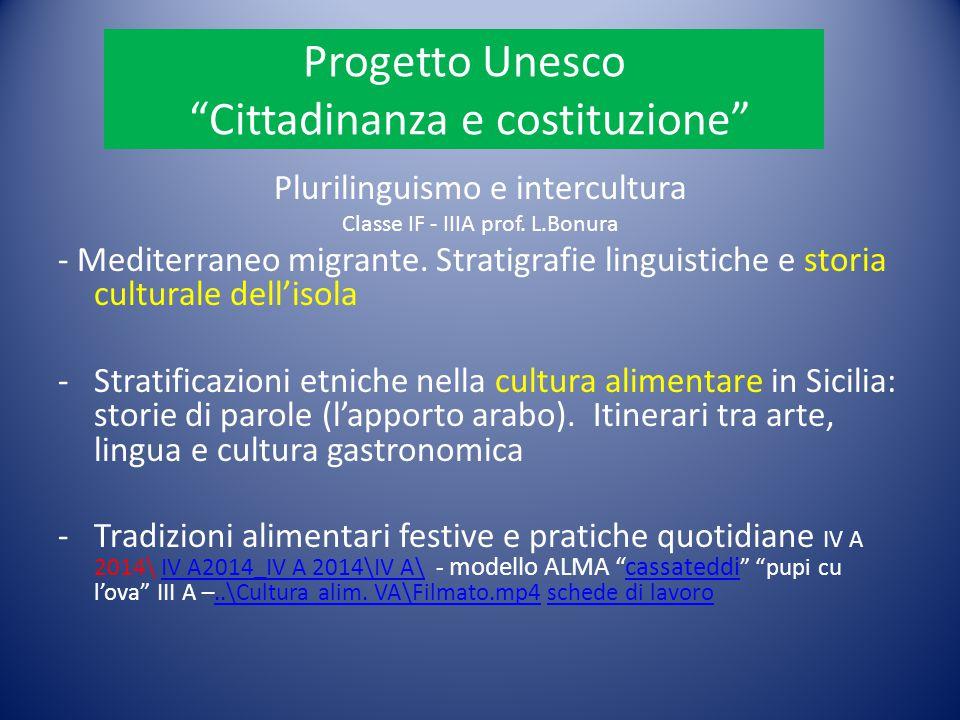 Progetto Unesco Cittadinanza e costituzione