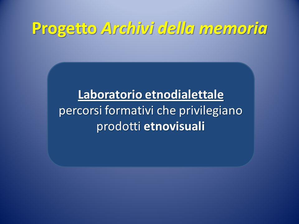 Progetto Archivi della memoria