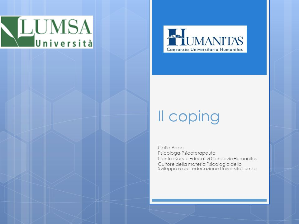 Il coping Catia Pepe Psicologa-Psicoterapeuta