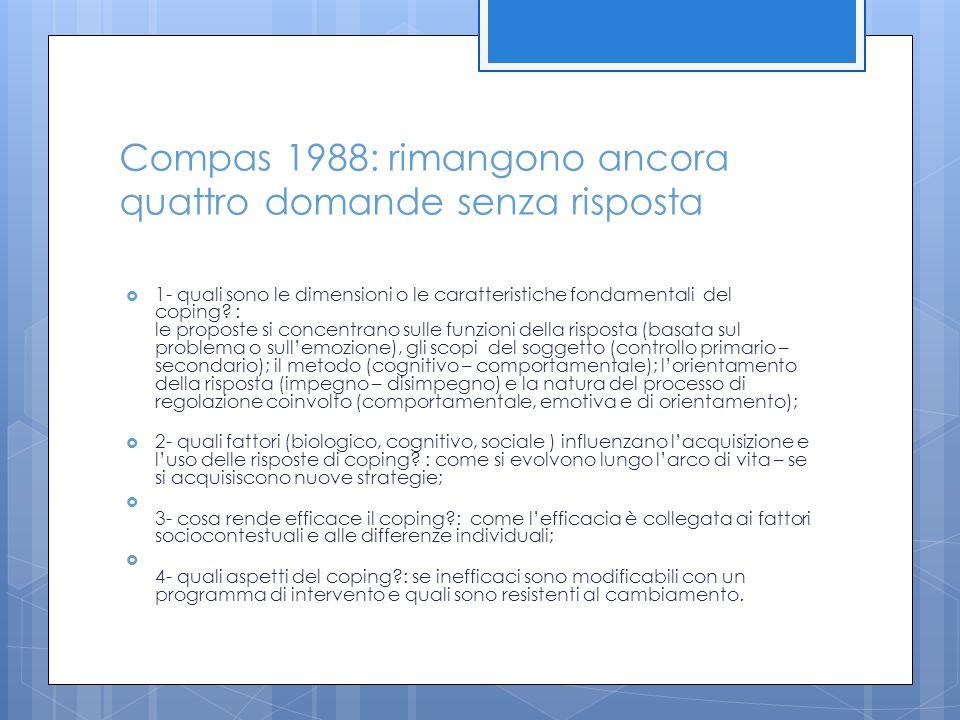 Compas 1988: rimangono ancora quattro domande senza risposta