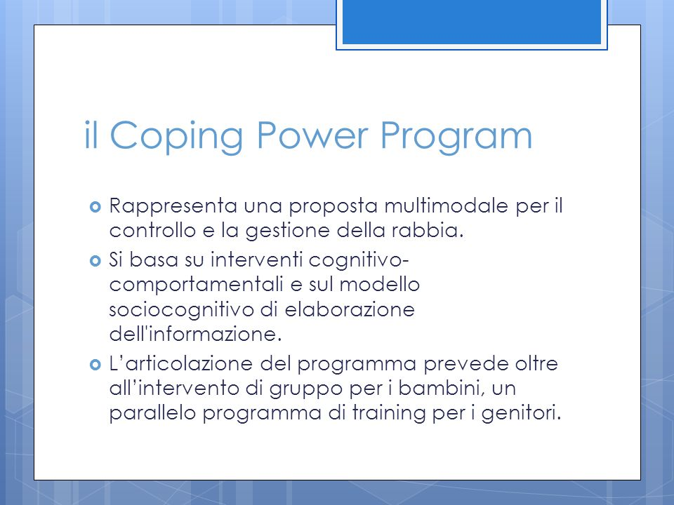 il Coping Power Program