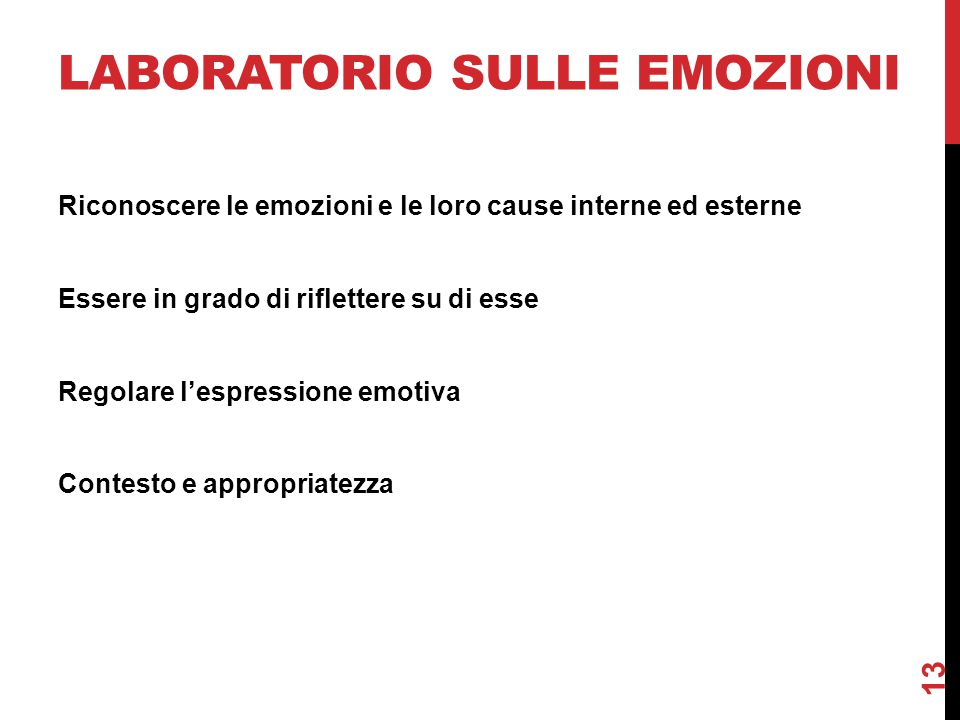 Laboratorio sulle emozioni