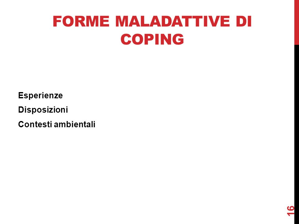 Forme maladattive di coping