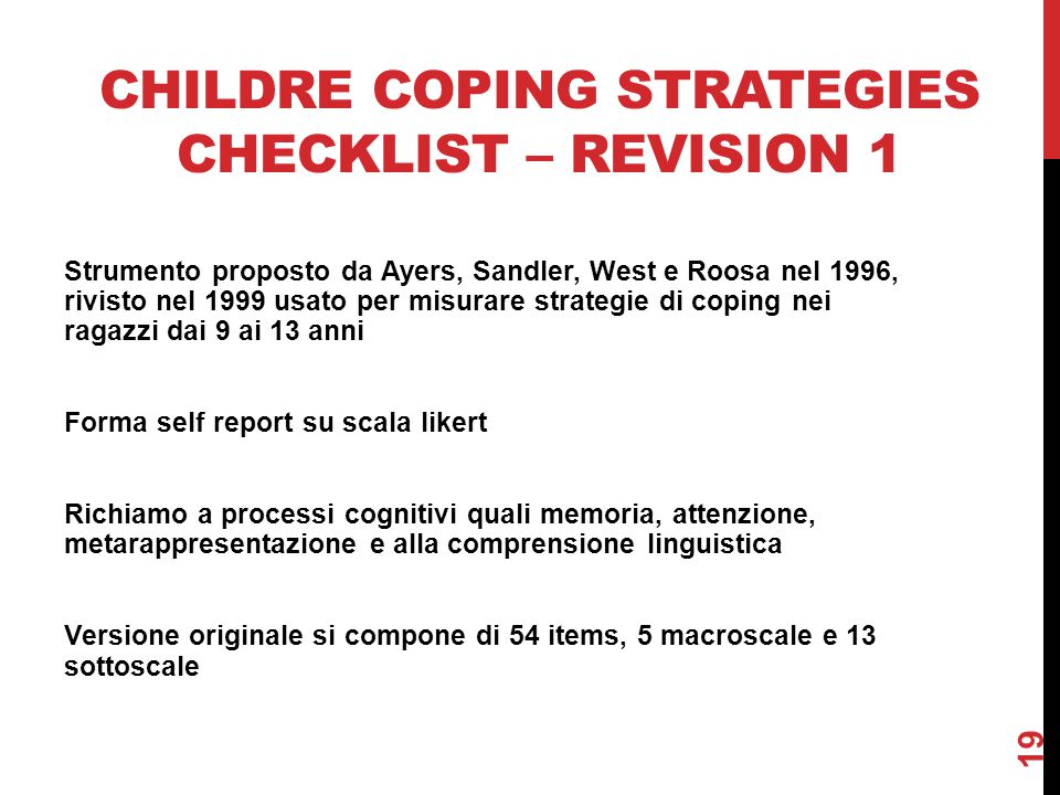 Childre Coping Strategies Checklist – revision 1