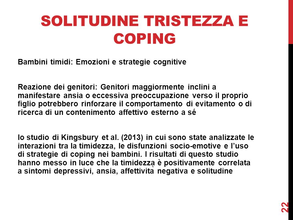 Solitudine tristezza e coping