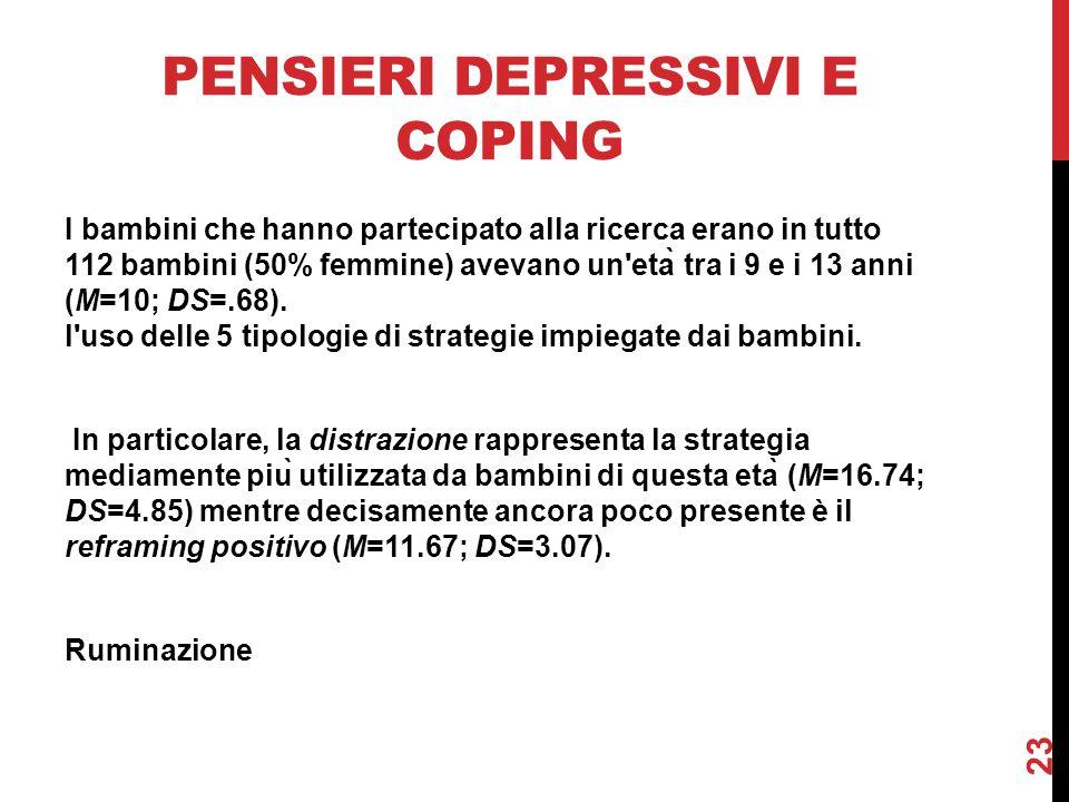 Pensieri depressivi e coping