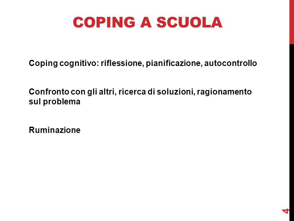 Coping a scuola