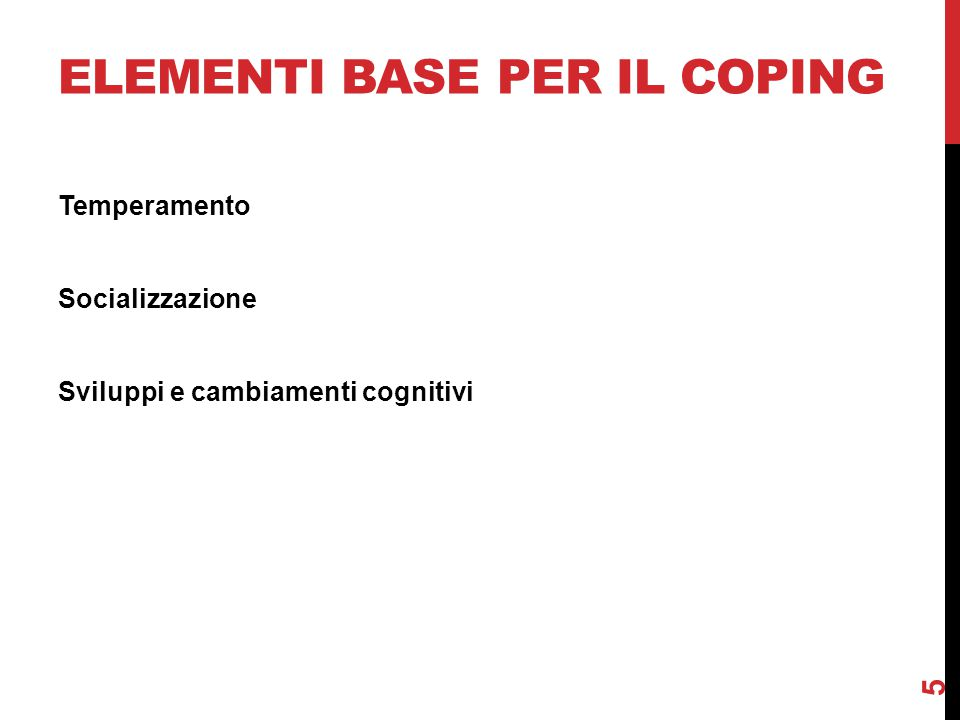 Elementi base per il coping
