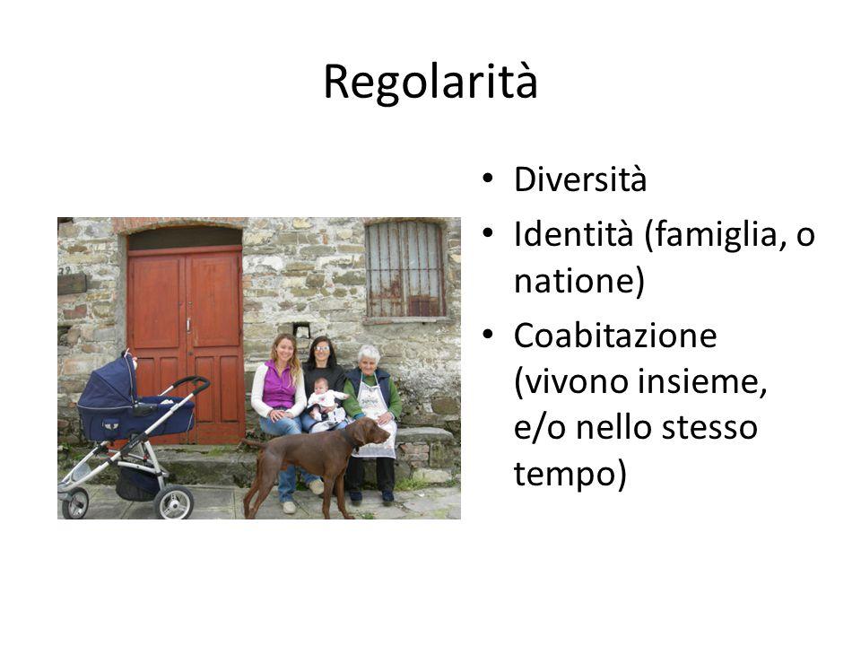 Regolarità Diversità Identità (famiglia, o natione)