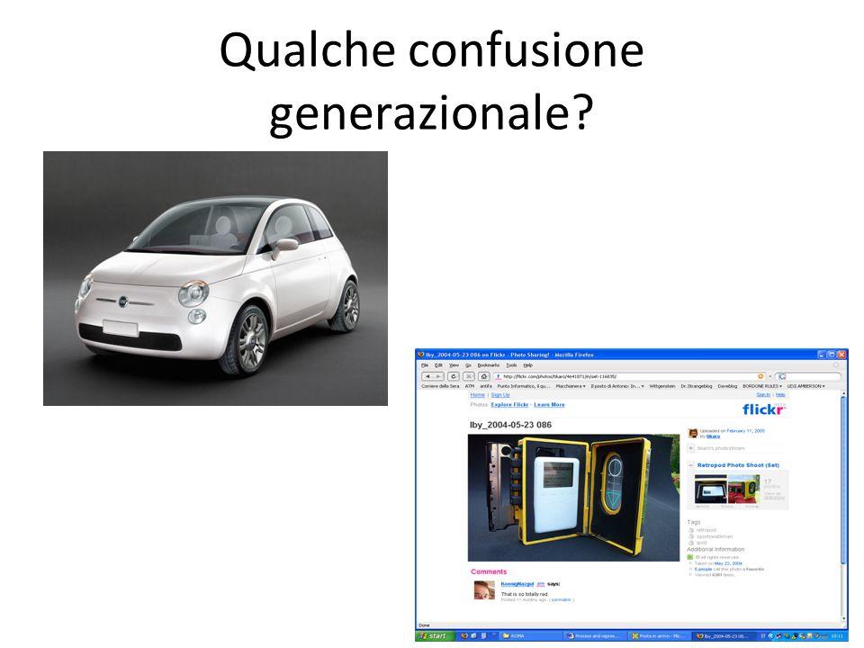 Qualche confusione generazionale