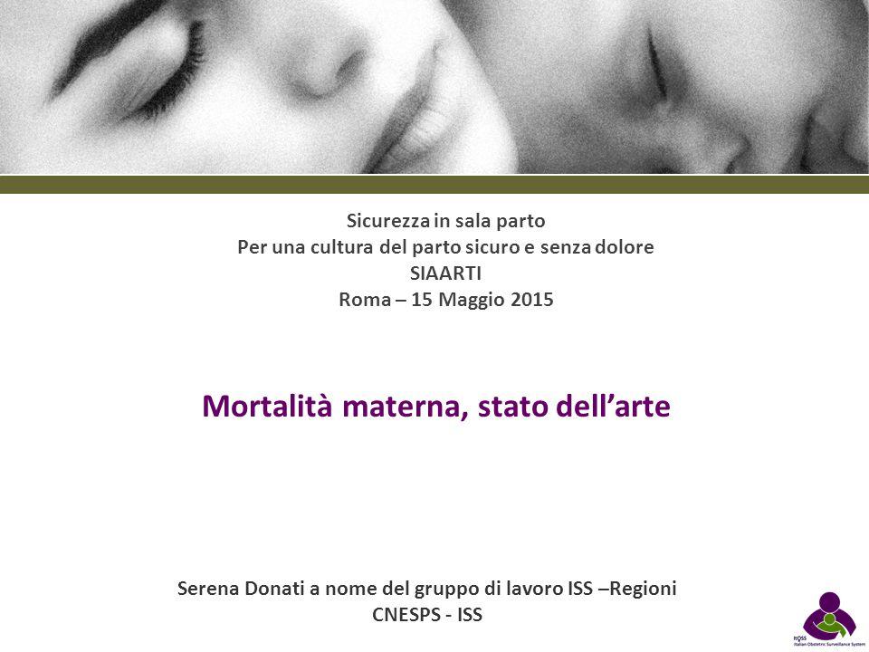 Mortalità materna, stato dell'arte