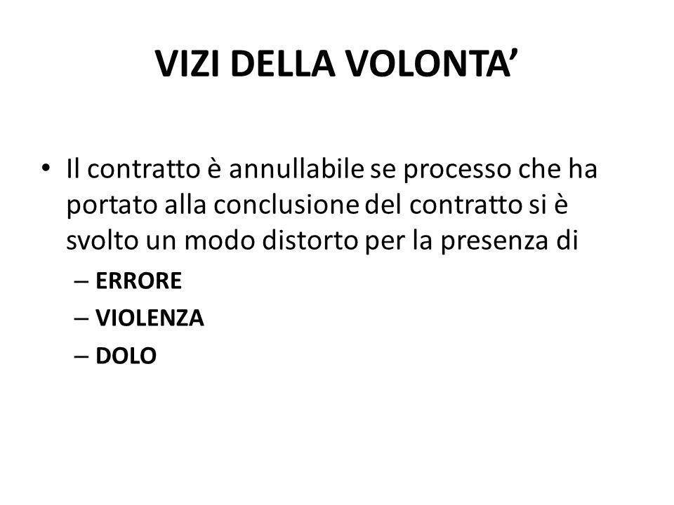VIZI DELLA VOLONTA'