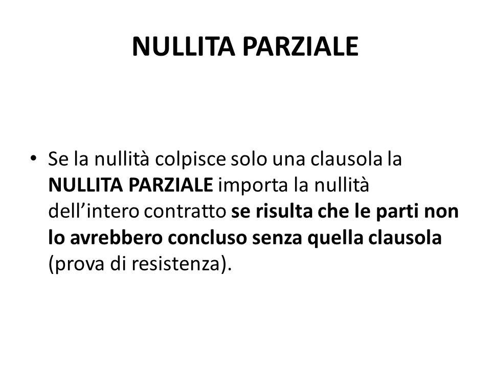 NULLITA PARZIALE