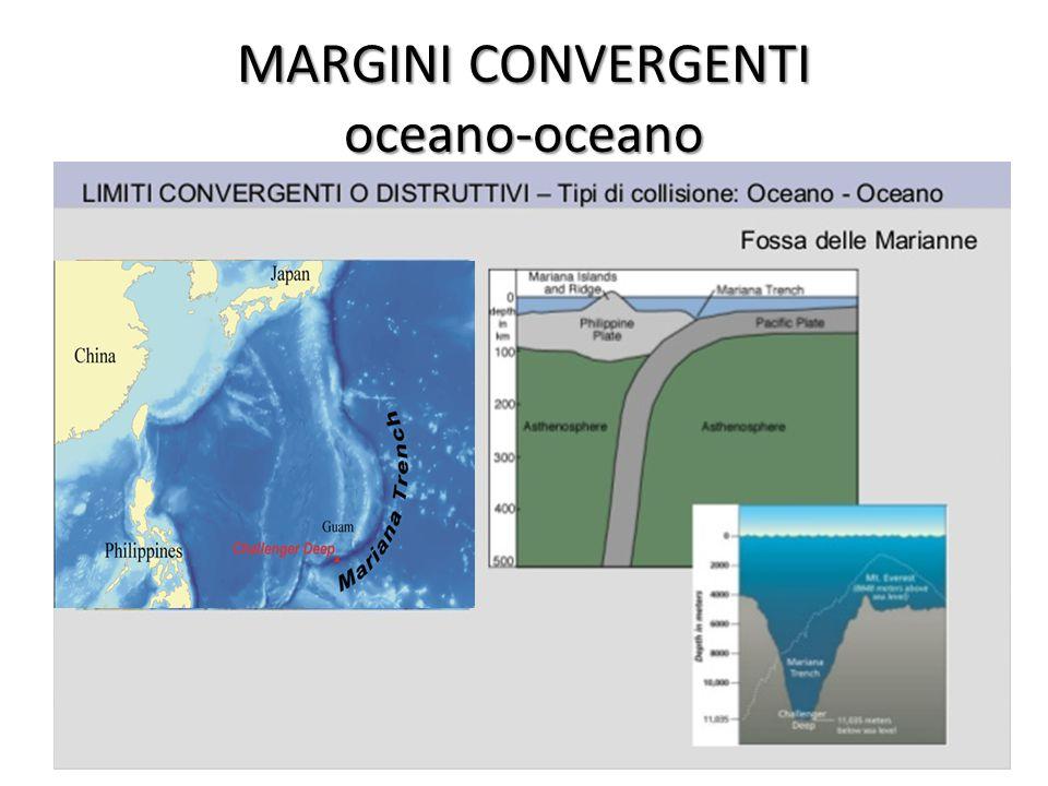 MARGINI CONVERGENTI oceano-oceano