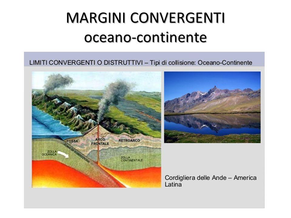 MARGINI CONVERGENTI oceano-continente