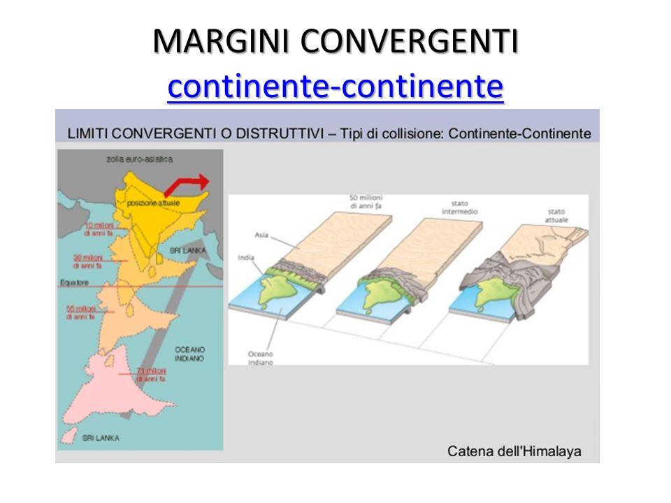 MARGINI CONVERGENTI continente-continente