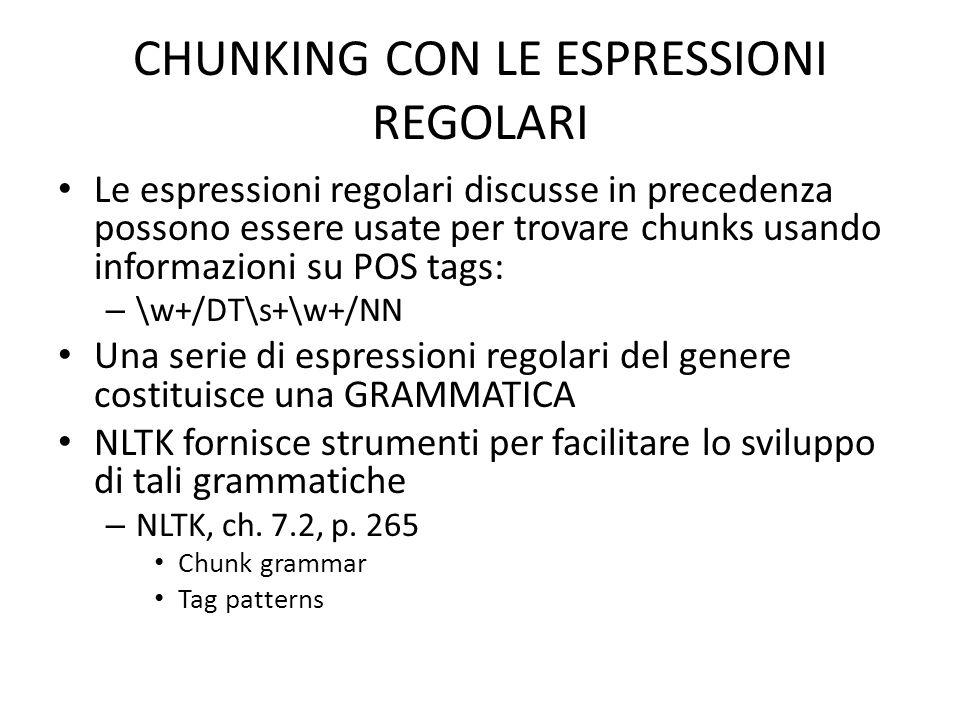 CHUNKING CON LE ESPRESSIONI REGOLARI