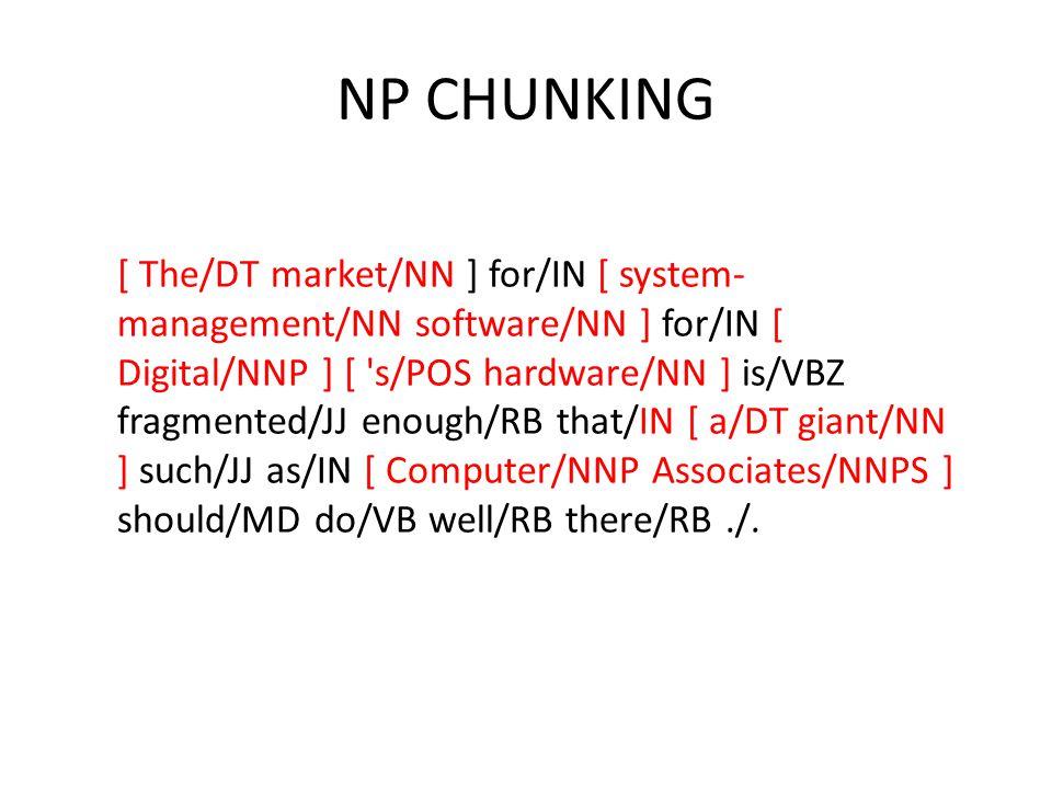 NP CHUNKING
