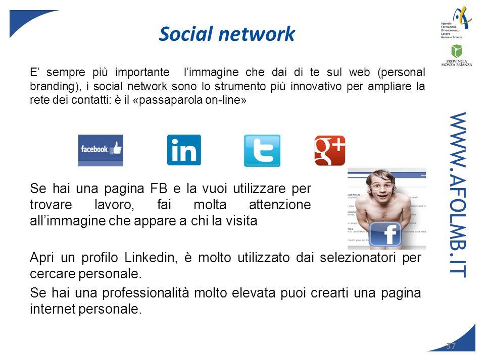 Social network WWW.AFOLMB.IT