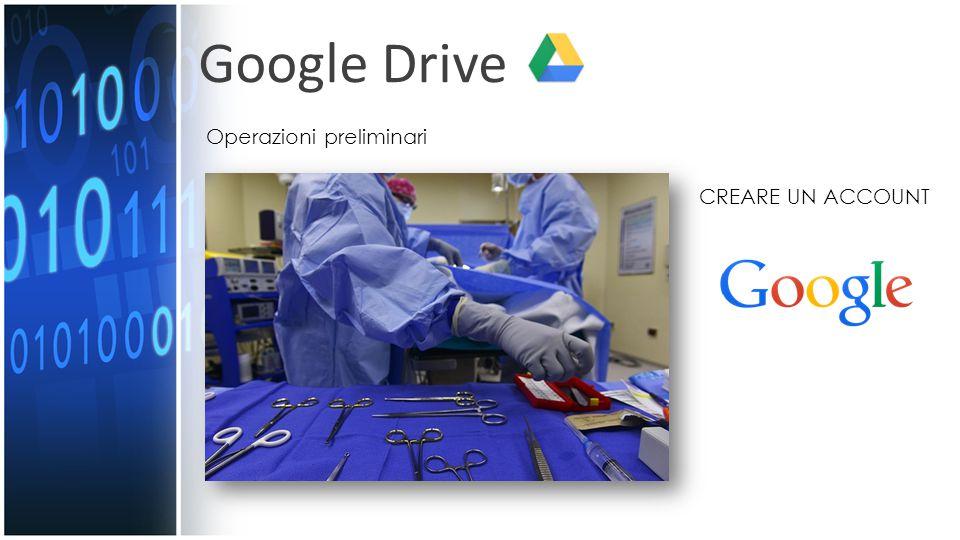Google Drive Operazioni preliminari CREARE UN ACCOUNT