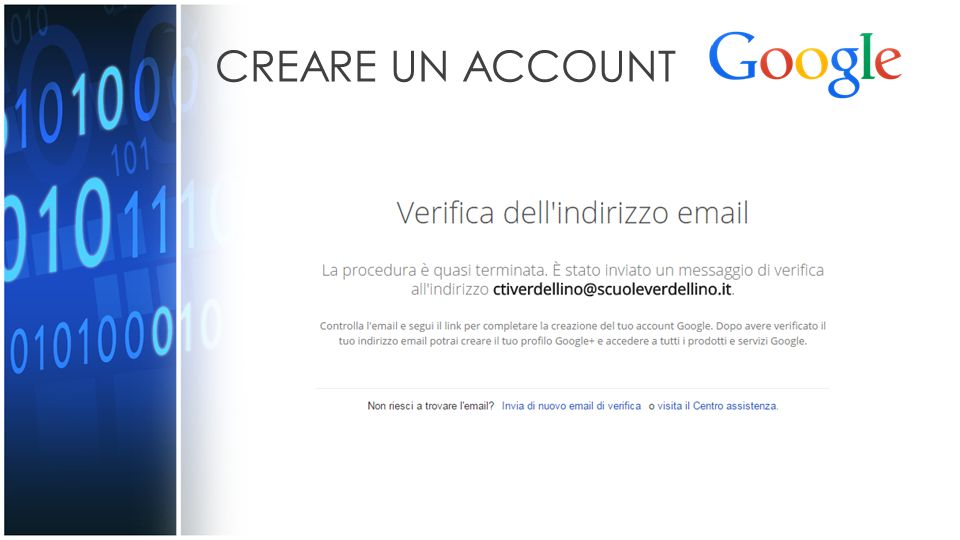 CREARE UN ACCOUNT