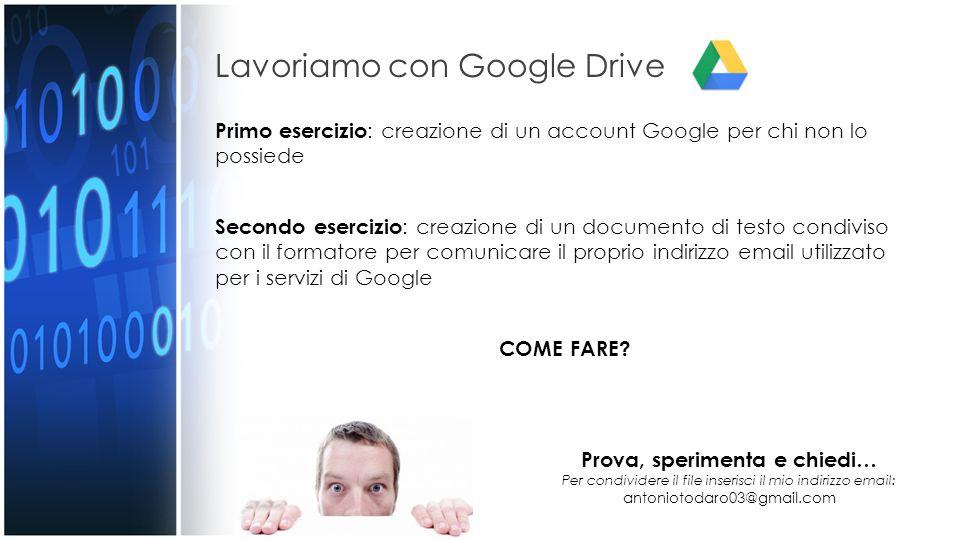 Lavoriamo con Google Drive