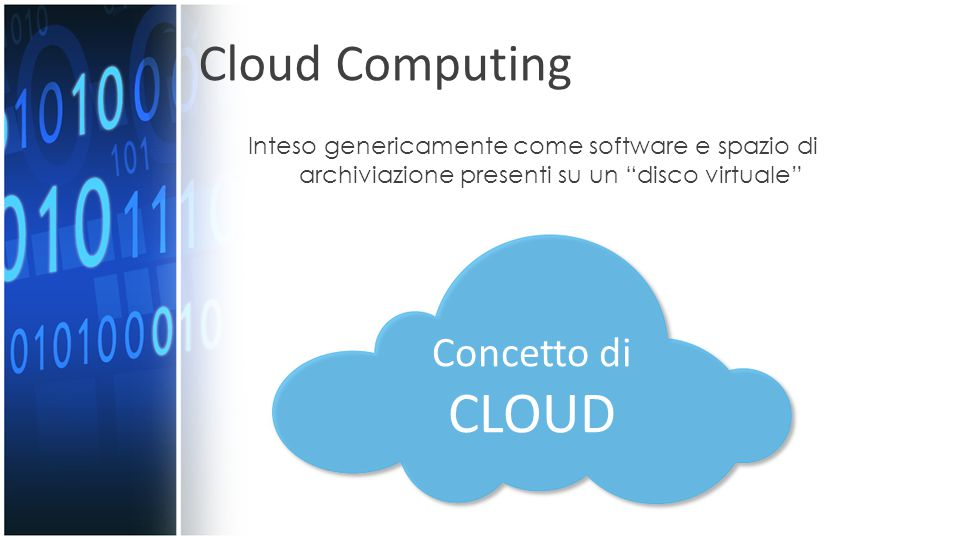 CLOUD Cloud Computing Concetto di