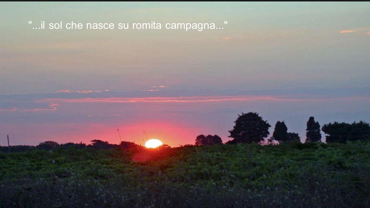 ...il sol che nasce su romita campagna...