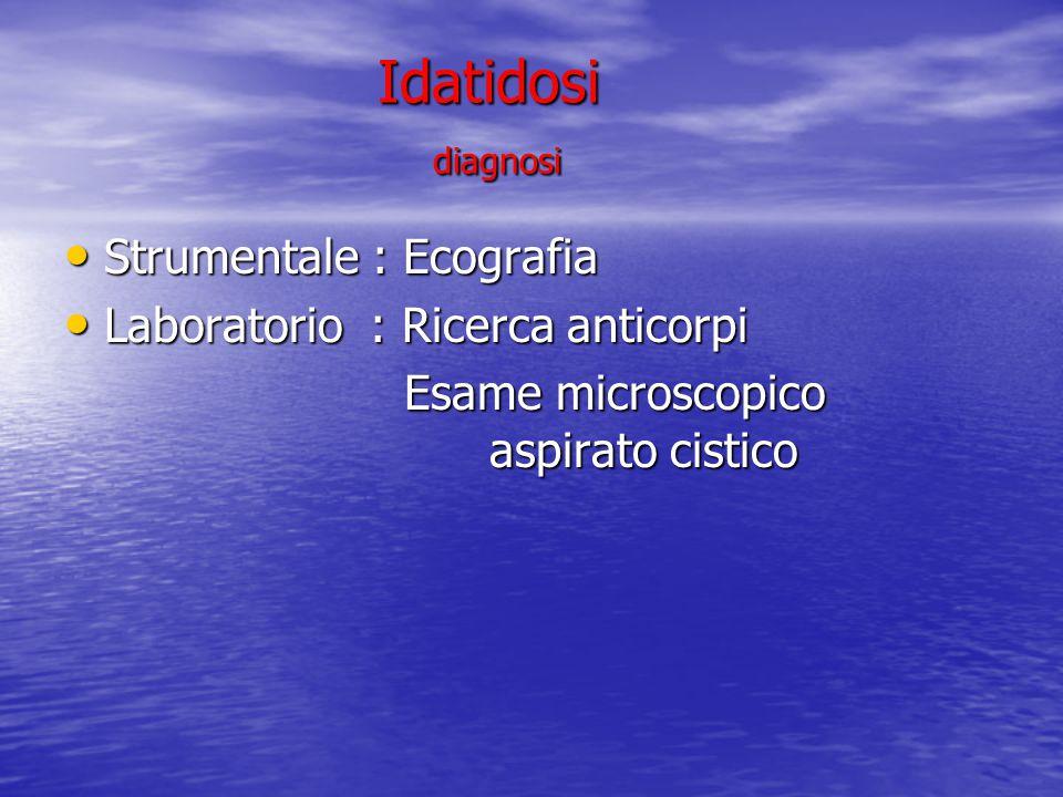 Idatidosi diagnosi Strumentale : Ecografia