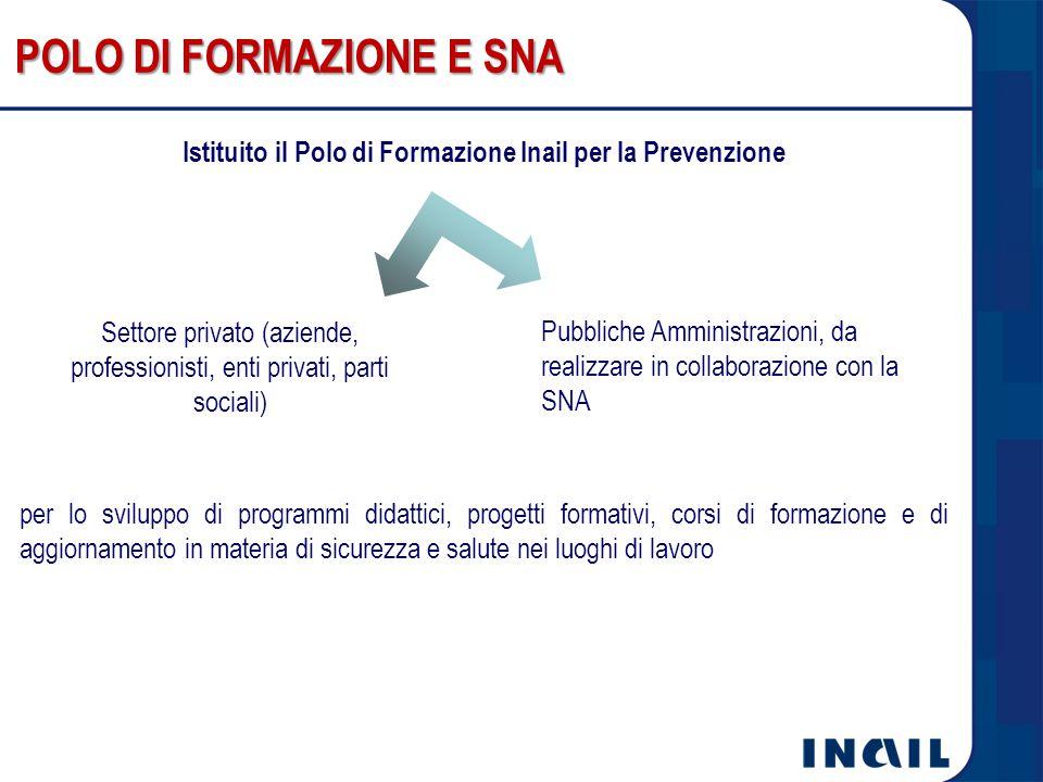 Istituito il Polo di Formazione Inail per la Prevenzione