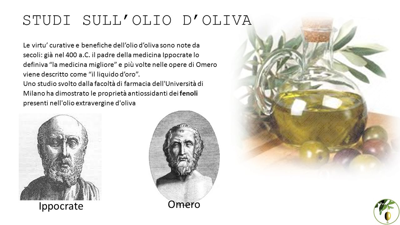 STUDI SULL'OLIO D'OLIVA