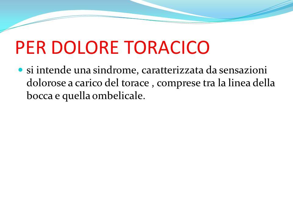 PER DOLORE TORACICO
