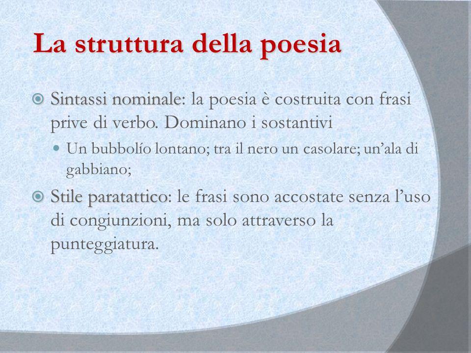 La struttura della poesia