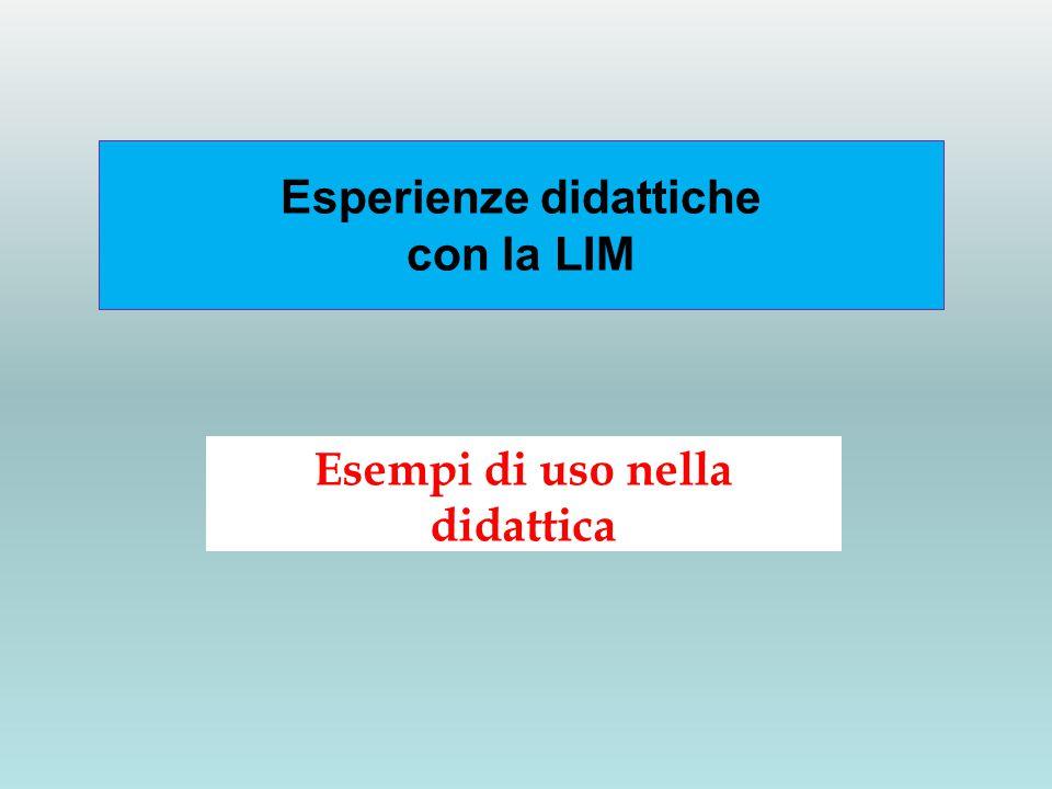 Esperienze didattiche con la LIM