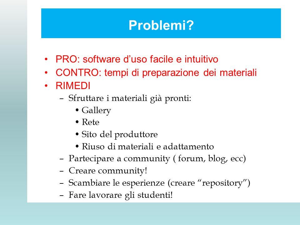 Problemi PRO: software d'uso facile e intuitivo