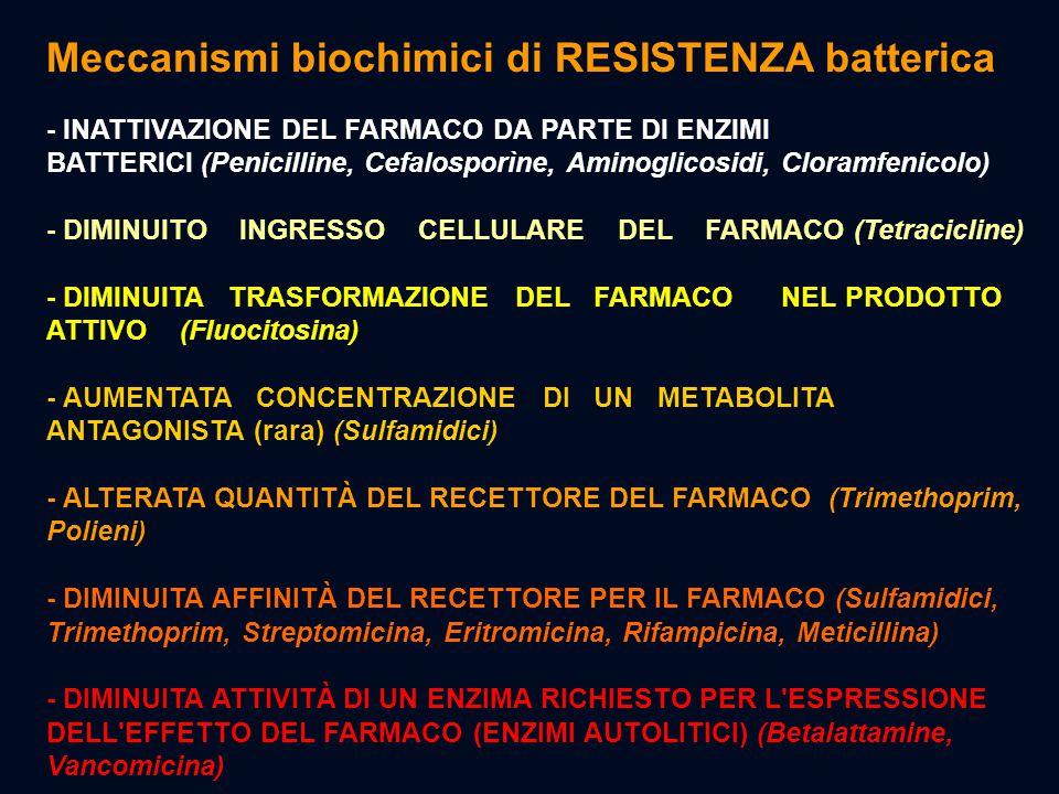 Meccanismi biochimici di RESISTENZA batterica