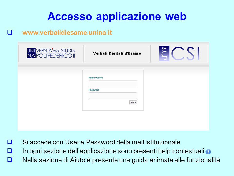 Accesso applicazione web