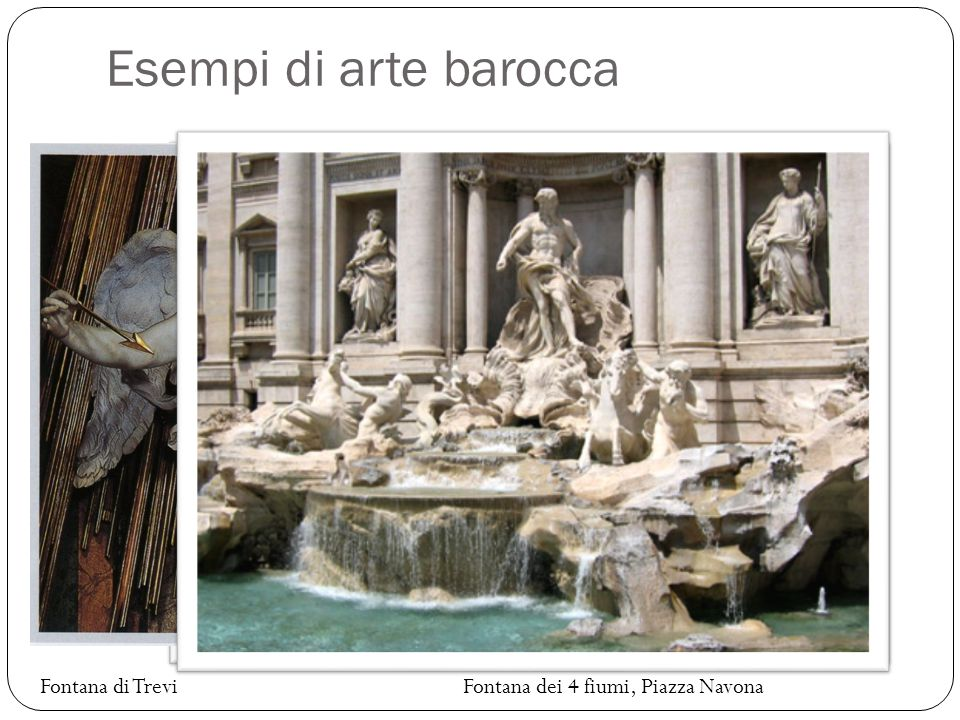 Esempi di arte barocca Estasi di Santa Teresa Fontana di Trevi