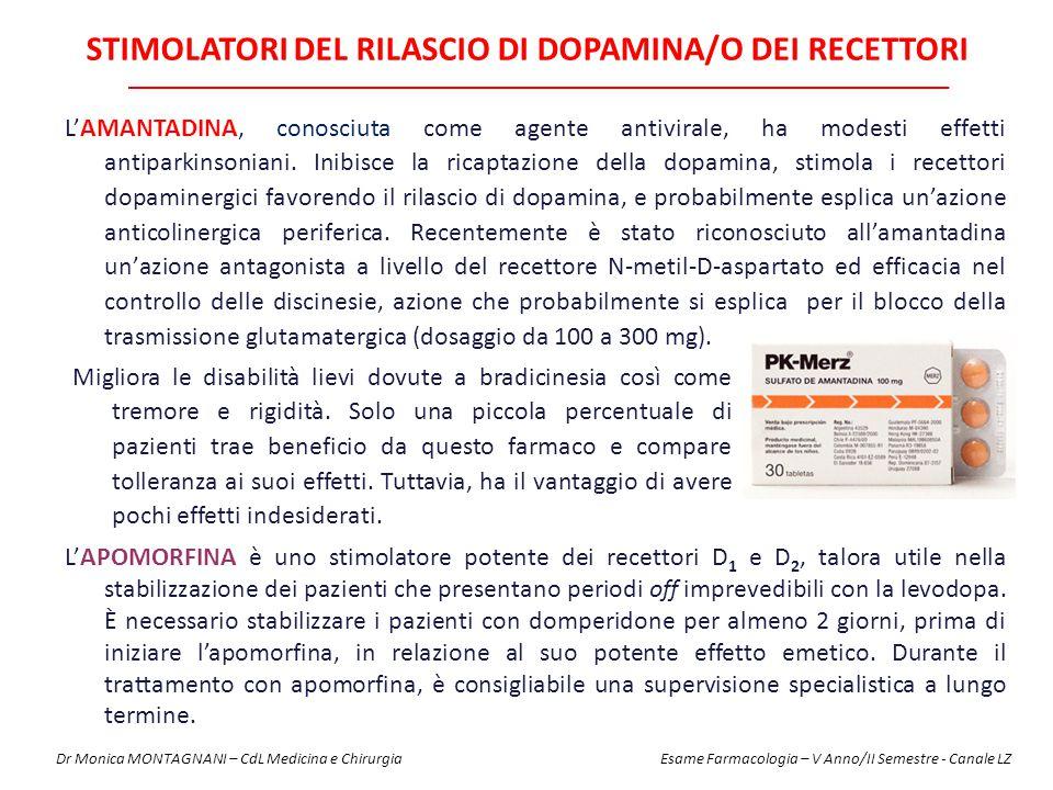 Stimolatori del rilascio di DOPAMINA/o dei recettori