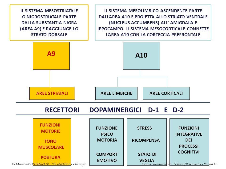 RECETTORI DOPAMINERGICI D-1 E D-2