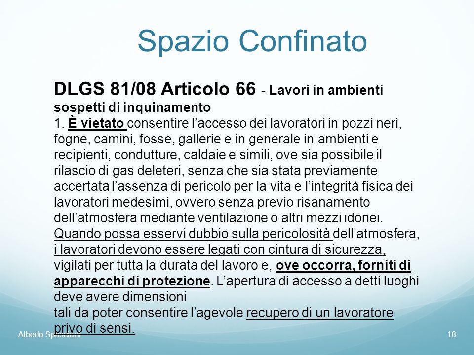 Spazio Confinato DLGS 81/08 Articolo 66 - Lavori in ambienti sospetti di inquinamento.