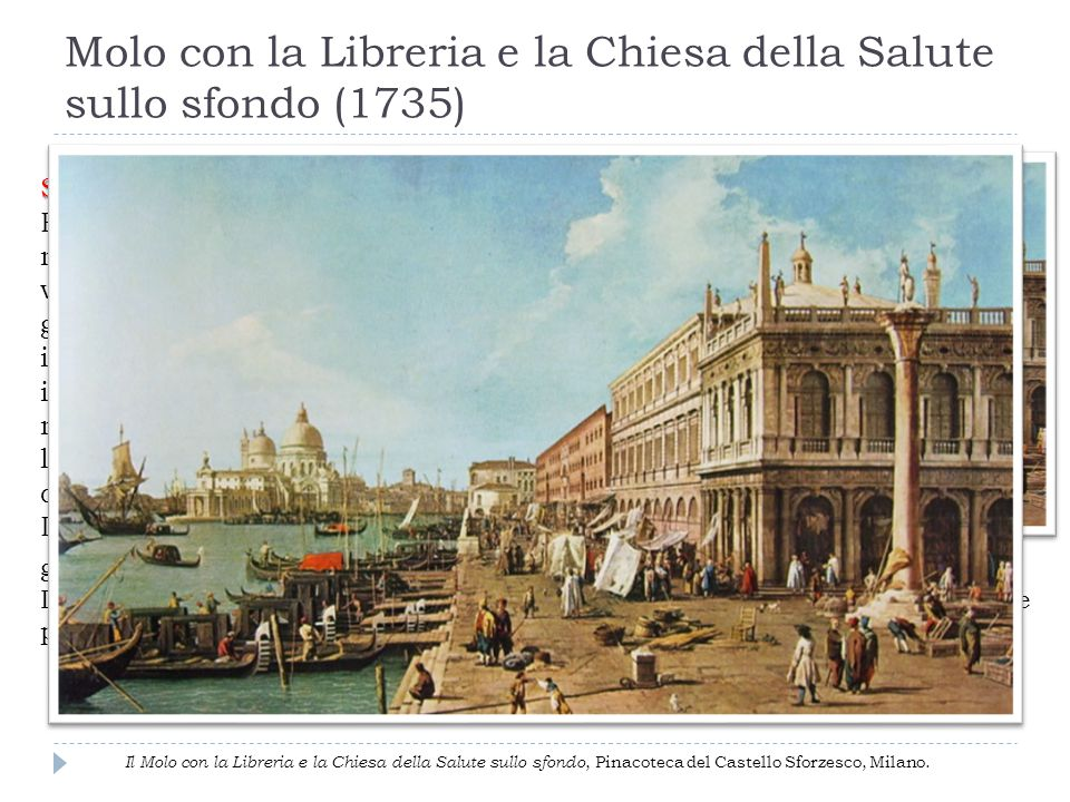 Molo con la Libreria e la Chiesa della Salute sullo sfondo (1735)