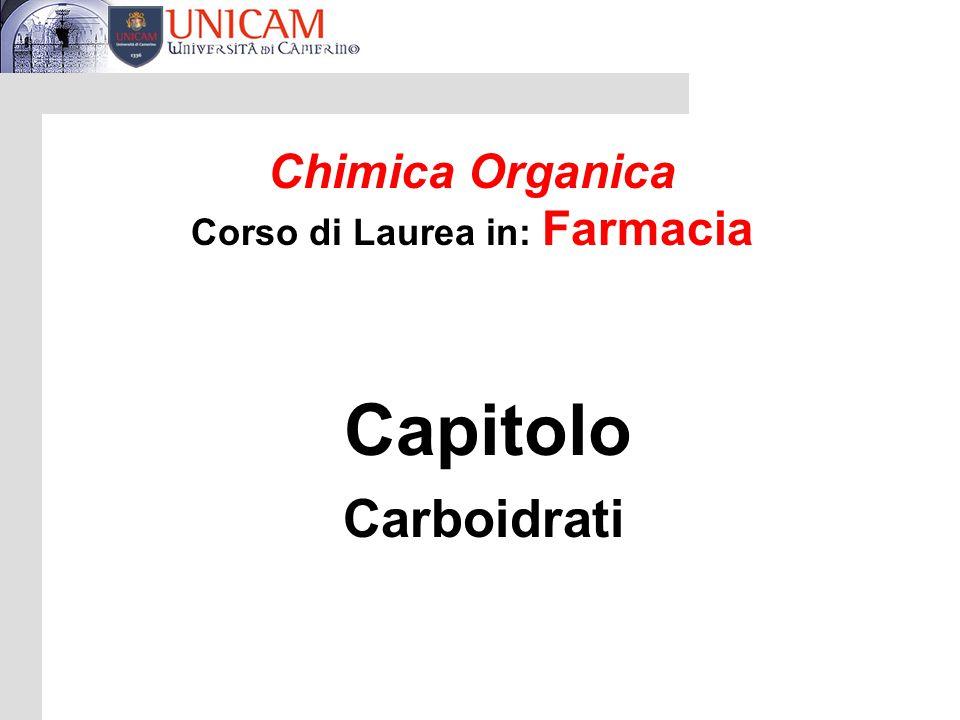 Corso di Laurea in: Farmacia
