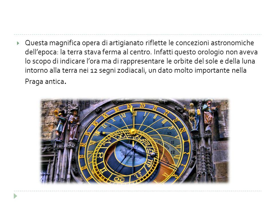 Questa magnifica opera di artigianato riflette le concezioni astronomiche dell'epoca: la terra stava ferma al centro.
