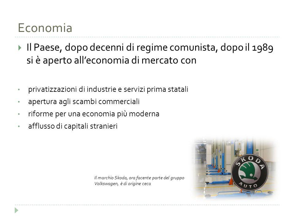 Economia Il Paese, dopo decenni di regime comunista, dopo il 1989 si è aperto all'economia di mercato con.