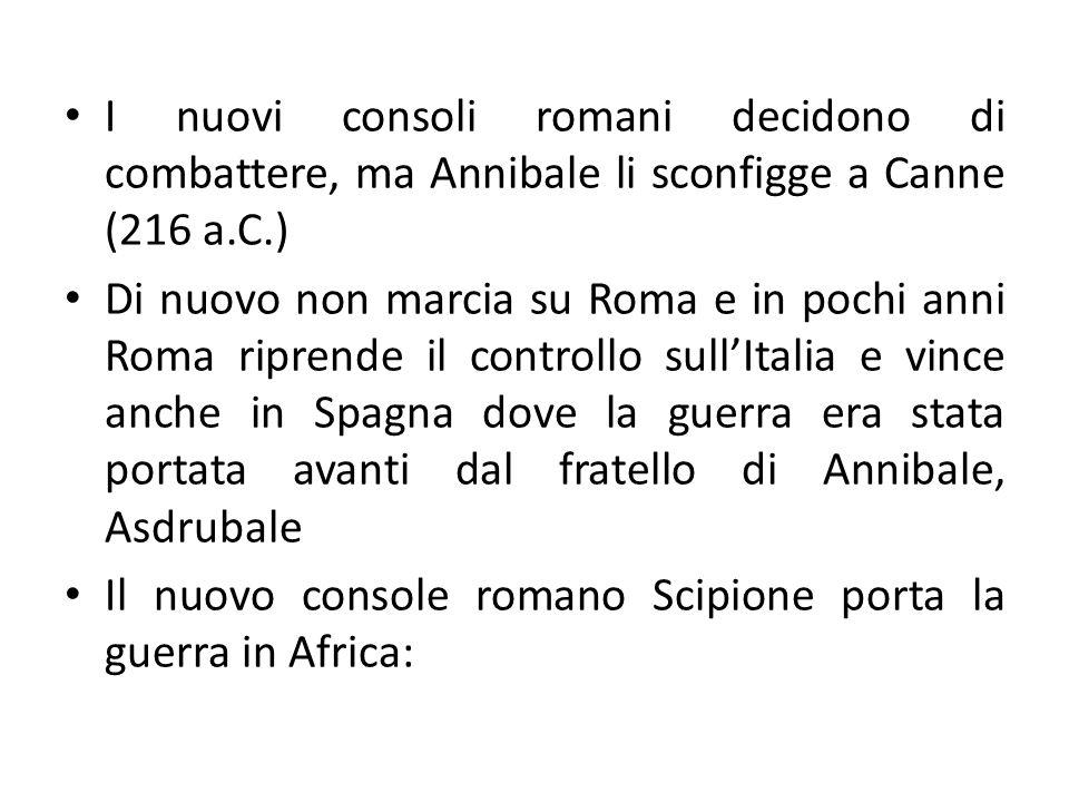 I nuovi consoli romani decidono di combattere, ma Annibale li sconfigge a Canne (216 a.C.)