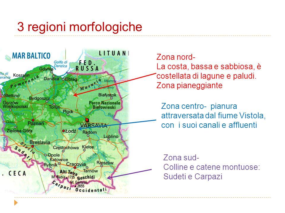 3 regioni morfologiche Zona nord-